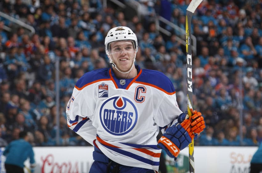 SAN JOSE, CA - APRIL 16: Connor McDavid. (Photo by Rocky W. Widner/NHL/Getty Images)