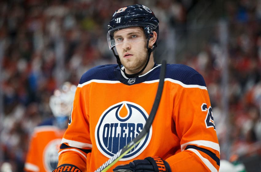 EDMONTON, AB - OCTOBER 04: Leon Draisaitl. (Photo by Codie McLachlan/Getty Images)