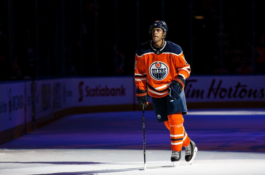 EDMONTON, AB - OCTOBER 09: Darnell Nurse. (Photo by Codie McLachlan/Getty Images)