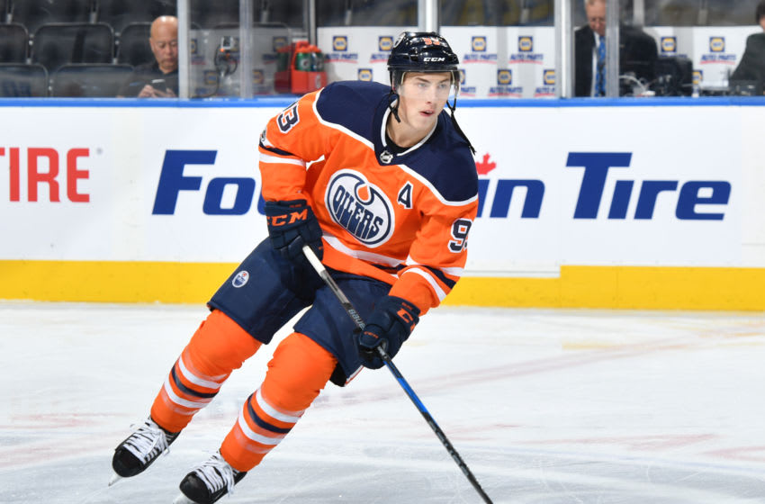 EDMONTON, AB - OCTOBER 26: Ryan Nugent-Hopkins. (Photo by Andy Devlin/NHLI via Getty Images)
