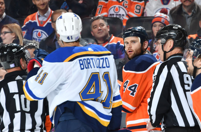 EDMONTON, AB - NOVEMBER 16: Zack Kassian. (Photo by Andy Devlin/NHLI via Getty Images)