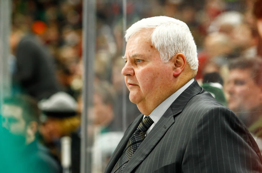 ST. PAUL, MN - DECEMBER 27: Dallas Stars head coach Ken Hitchcock looks on during the Central Division game between the Dallas Stars and the Minnesota Wild on December 27, 2017 at Xcel Energy Center in St. Paul, Minnesota. The Wild defeated the Stars 4-2. (Photo by David Berding/Icon Sportswire via Getty Images)