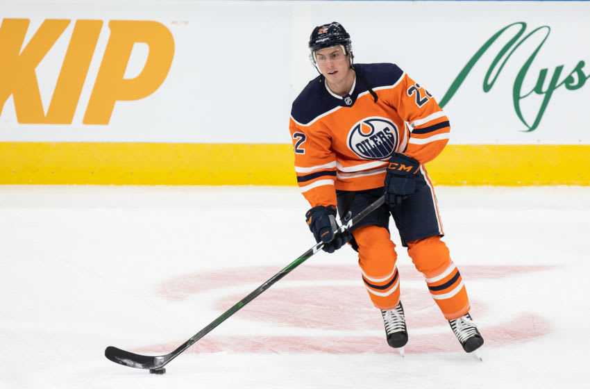 Edmonton Oilers, Tyson Barrie #22 (Photo by Codie McLachlan/Getty Images)