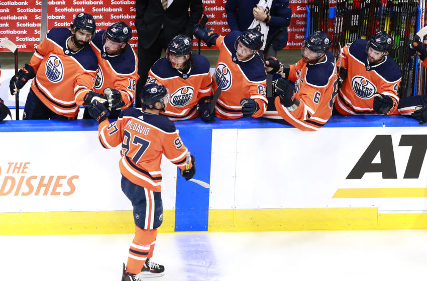 Edmonton Oilers, Connor McDavid #97 (Photo by Jeff Vinnick/Getty Images)