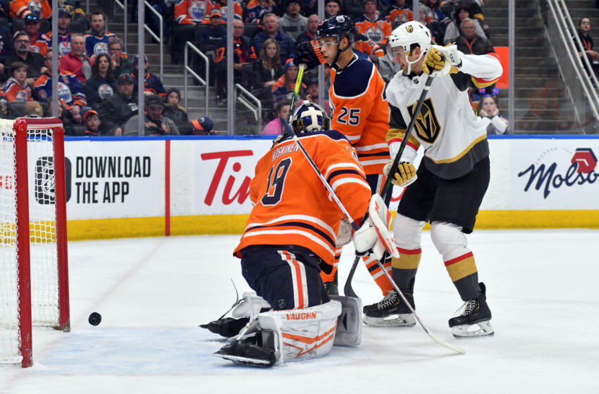 Mikko Koskinen #19, Edmonton Oilers Mandatory Credit: Walter Tychnowicz-USA TODAY Sports