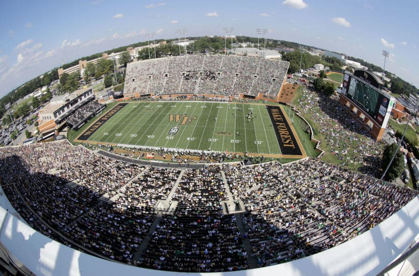 WINSTON SALEM, NC - SEPTEMBER 22: A general view of the Notre Dame Fighting Irish versus the Wake Forest Demon Deacons at BB&T Field on September 22, 2018 in Winston Salem, North Carolina. (Photo by Streeter Lecka/Getty Images)