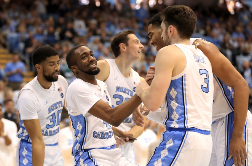 CHAPEL HILL, NORTH CAROLINA - JANUARY 25: Brandon Robinson #4 of the North Carolina Tar Heels reacts after a play against the Miami (Fl) Hurricanes during their game at Dean Smith Center on January 25, 2020 in Chapel Hill, North Carolina. (Photo by Streeter Lecka/Getty Images)