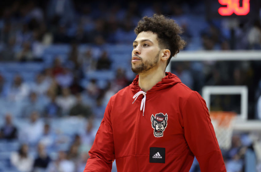 CHAPEL HILL, NC - FEBRUARY 25: Devon Daniels #24 of North Carolina State University during a game between NC State and North Carolina at Dean E. Smith Center on February 25, 2020 in Chapel Hill, North Carolina. (Photo by Andy Mead/ISI Photos/Getty Images)