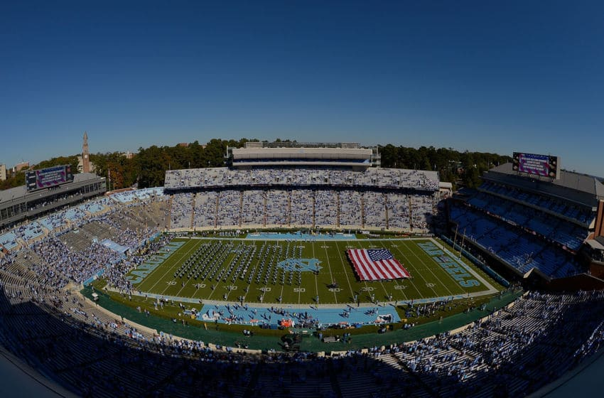 CHAPEL HILL, NC - NOVEMBER 05: General view of the game between the North Carolina Tar Heels and the Georgia Tech Yellow Jackets at Kenan Stadium on November 5, 2016 in Chapel Hill, North Carolina. (Photo by Grant Halverson/Getty Images)