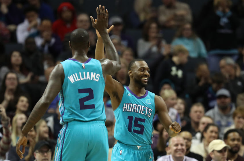 Marvin Williams and Kemba Walker with the Charlotte Hornets (Photo by Streeter Lecka/Getty Images)
