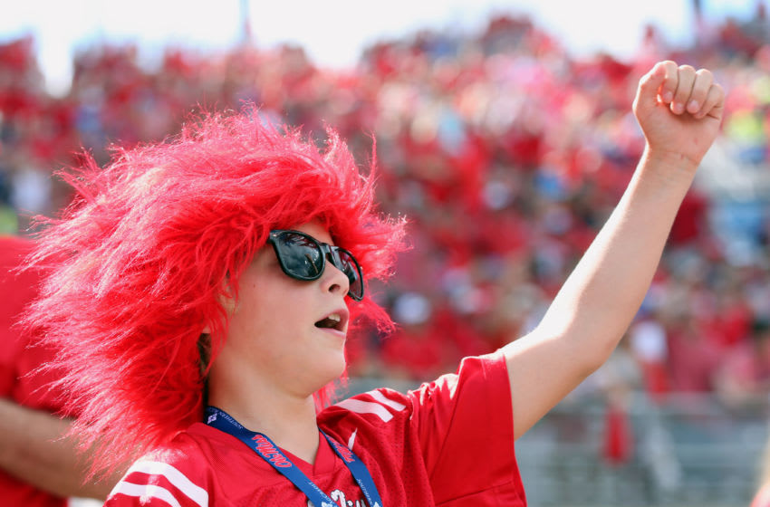 OXFORD, MS - SEPTEMBER 10: A young fan of the Mississippi Rebels cheers against the Wofford Terriers on September 10, 2016 at Vaught-Hemingway Stadium in Oxford, Mississippi. Mississippi defeated Wofford 38-13. (Photo by Joe Murphy/Getty Images)
