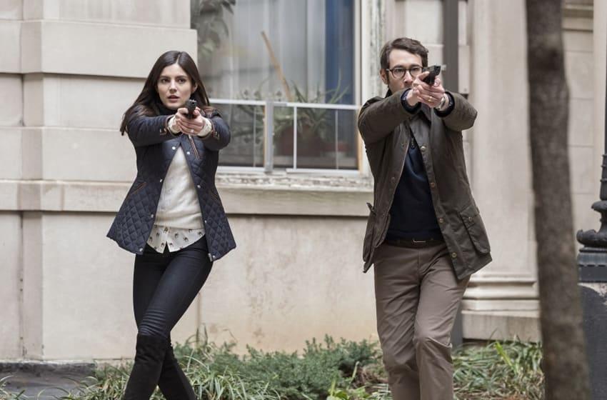 Monica Barbaro (left) and Josh Groban star in Netflix's The Good Cop. Photo: Courtesy of Netflix.