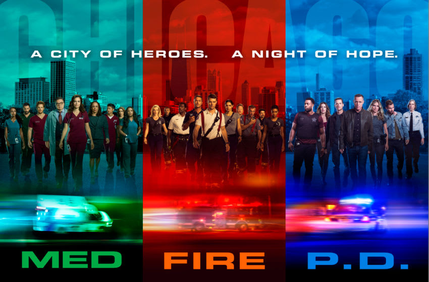 One Chicago franchise 2019-2020 season key art featuring the casts of Chicago Fire, Chicago PD and Chicago Med. Photo Credit: Courtesy of NBC.