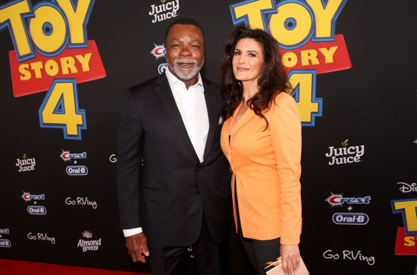HOLLYWOOD, CA - JUNE 11: (L-R) Carl Weathers and Christine Klvdjian attend the world premiere of Disney and Pixar's TOY STORY 4 at the El Capitan Theatre in Hollywood, CA on Tuesday, June 11, 2019. (Photo by Jesse Grant/Getty Images for Disney)