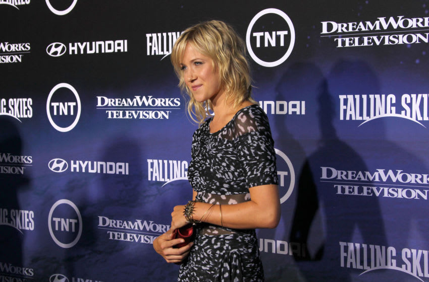 WEST HOLLYWOOD, CA - JUNE 13: Actress Jessy Schram attends the Premiere of TNT and Dreamworks'