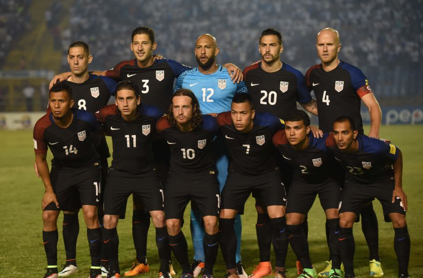 USA team poses before the match against Guatemala in Guatemala City on March 25, 2016 ahead of North and Central America qualifiers round for FIFA World Cup Russia 2018. AFP PHOTO / JOHAN ORDONEZ / AFP / JOHAN ORDONEZ (Photo credit should read JOHAN ORDONEZ/AFP/Getty Images)