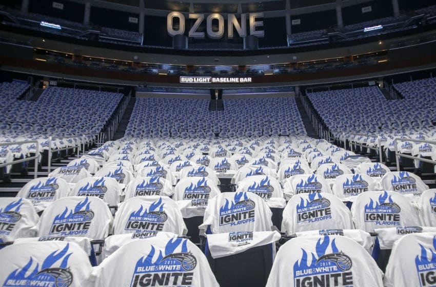 The Amway Center and other NBA arenas will sit empty as the league has suspended the 2020 season. (Photo by Don Juan Moore/Getty Images)