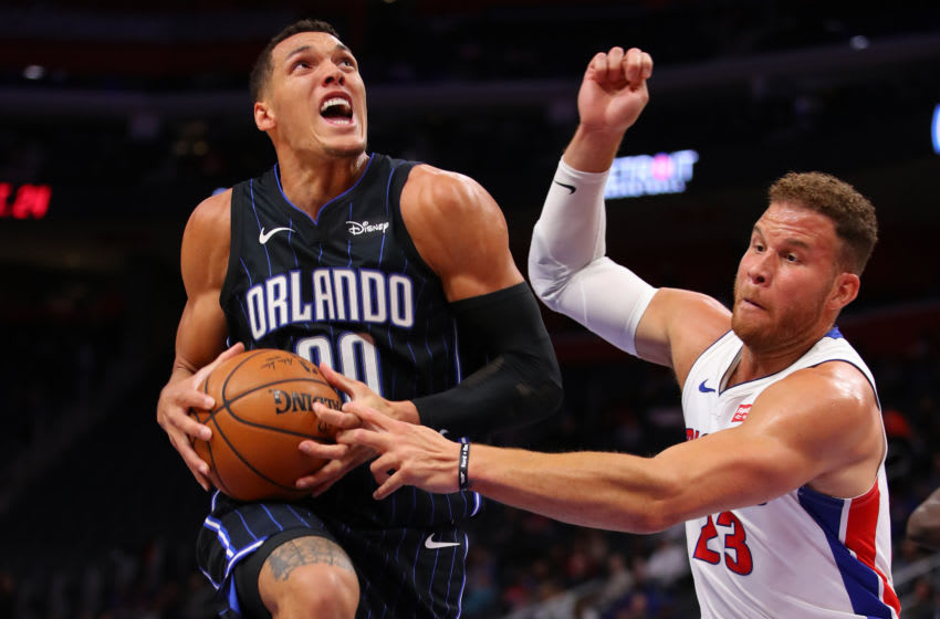 Aaron Gordon will be at the center of trade rumors as the Orlando Magic seek a way to improve their roster. (Photo by Gregory Shamus/Getty Images)