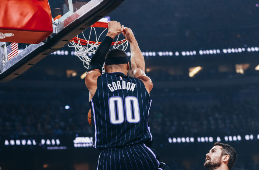 Aaron Gordon and the Orlando Magic saw glimpses of how good they can be in their season opening wing. (Photo by Harry Aaron/Getty Images)