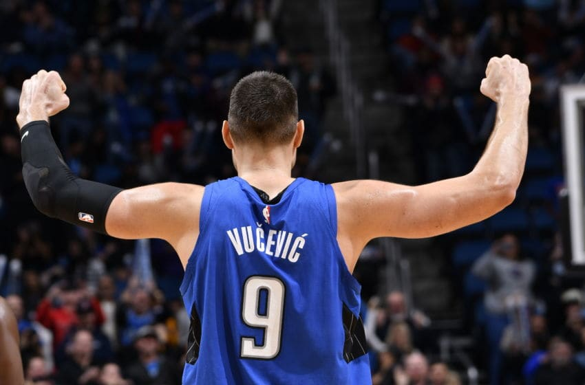 Nikola Vucevic helped pace the Orlando Magic as they held on to defeat the Washington Wizards.(Photo by Fernando Medina/NBAE via Getty Images)