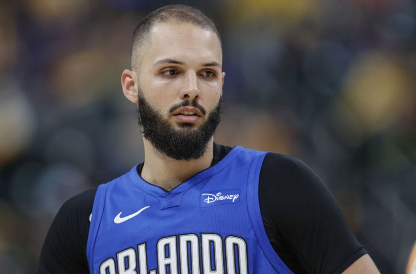 All eyes at the trade deadline for the Orlando Magic are on Evan Fournier. (Photo by Michael Hickey/Getty Images)