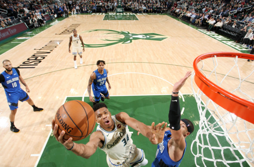 Giannis Antetokounmpo found a way through some difficult Orlando Magic defense in the Milwaukee Bucks' win. (Photo by Gary Dineen/NBAE via Getty Images).