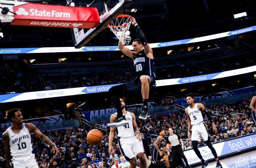 Aaron Gordon has provided plenty of highlights in his short time with the Orlando Magic. (Photo by Harry Aaron/Getty Images)