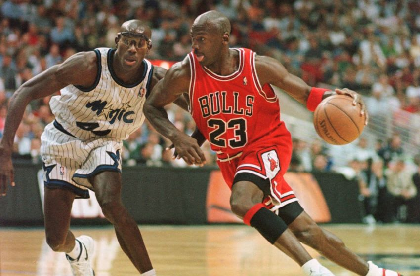 For much of the Orlando Magic's history, they found a way to upset Michael Jordan and score some big victories. (Photo by TONY RANZE/AFP via Getty Images)