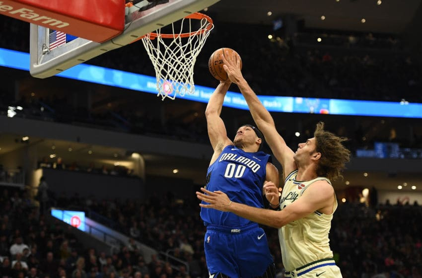 Aaron Gordon has struggled offensively this year for the Orlando Magic. Without Jonathan Isaac, Gordon has to snap out of his funk. (Photo by Stacy Revere/Getty Images)