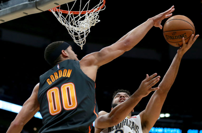 Aaron Gordon has struggled offensively this year for the Orlando Magic, but continues to be solid defensively. (Photo by Sean Gardner/Getty Images)