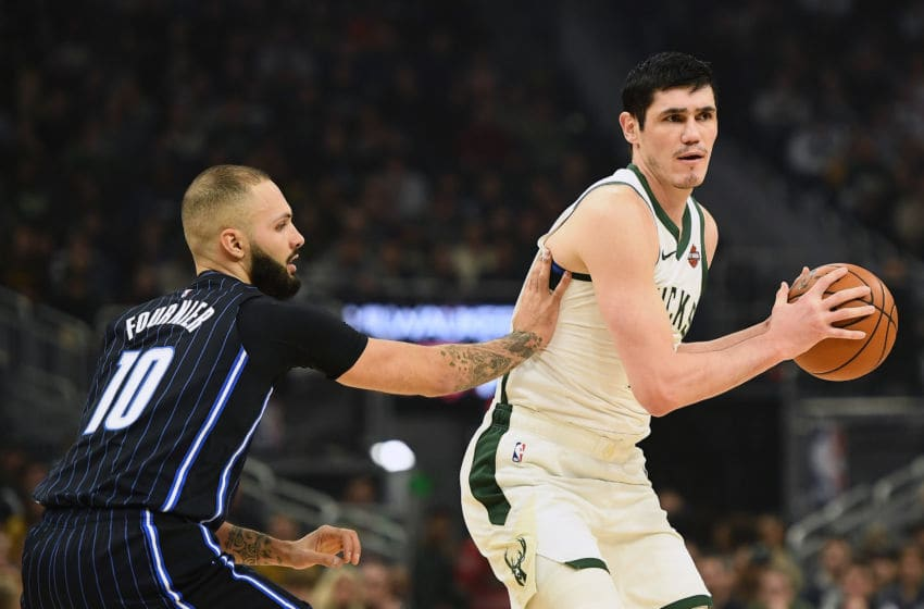 Ersan Ilyasova was a catalyst for the Milwaukee Bucks to defeat the Orlando Magic and score a victory. (Photo by Stacy Revere/Getty Images)