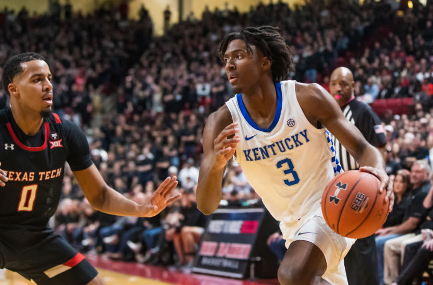 Tyrese Maxey of the Kentucky Wildcats is a promising point guard with lots of work to do. (Photo by John E. Moore III/Getty Images)