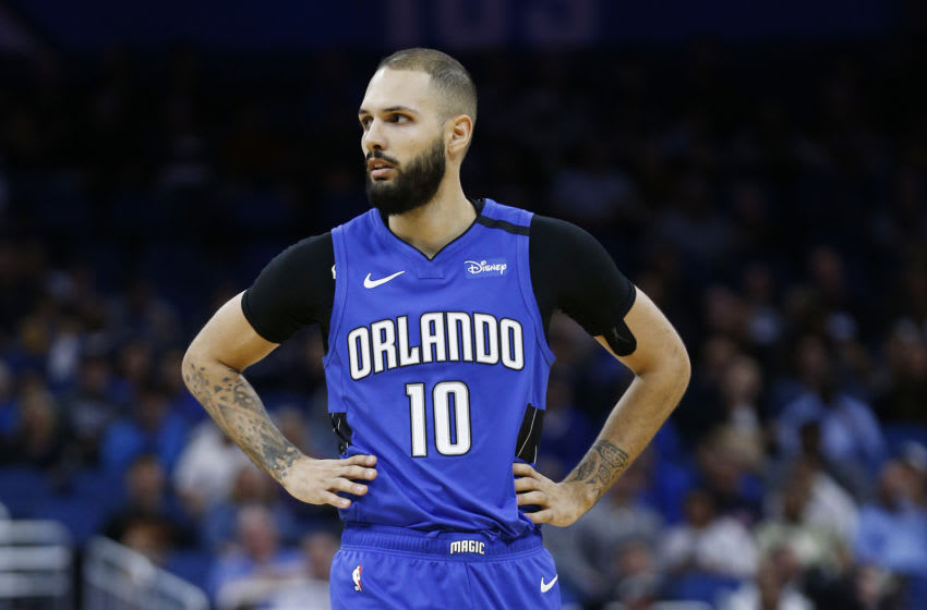Evan Fournier faces a big decision this offseason with his player option and free agency. (Photo by Michael Reaves/Getty Images)
