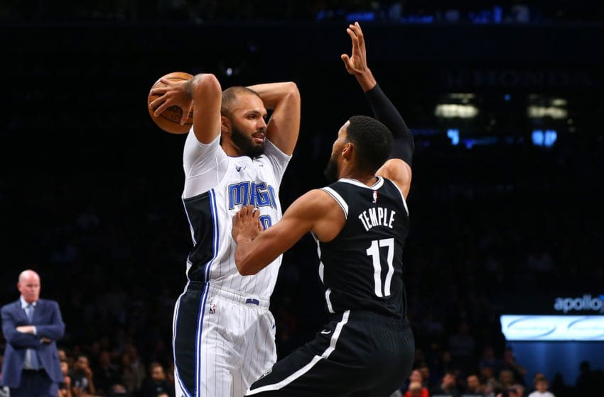 Evan Fournier got early access to the Orlando Magic's practice facility for injury treatment. (Photo by Mike Stobe/Getty Images)