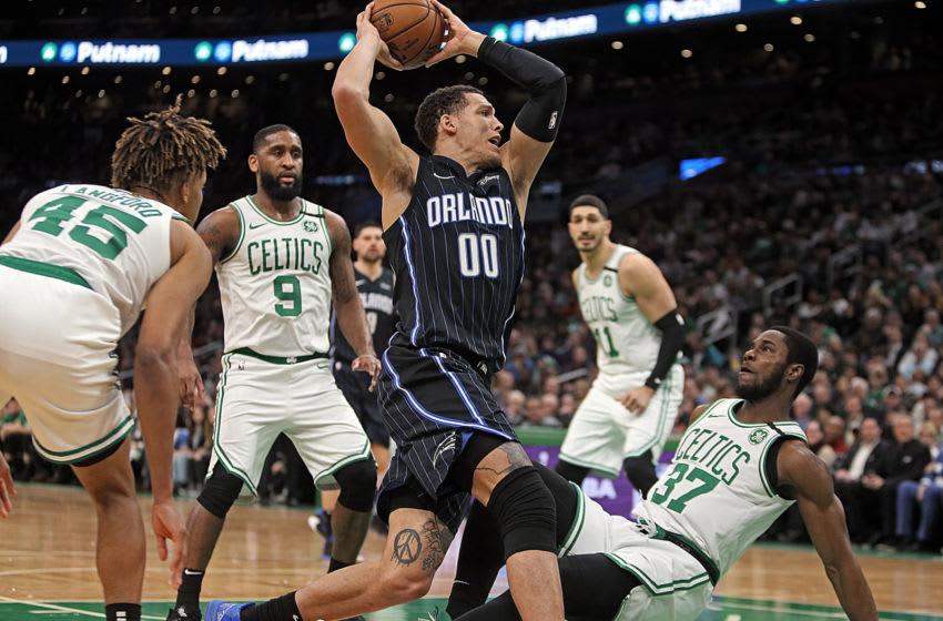 The Orlando Magic made their lone national TV appearance and even they commented on their lack of star power. (Staff Photo By Matt Stone/MediaNews Group/Boston Herald)