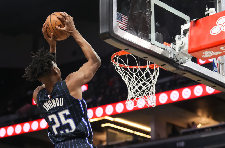 Wesley Iwundu stepped into the starting lineup and helped the Orlando Magic withstand another injury. (Photo by David Berding/Getty Images)