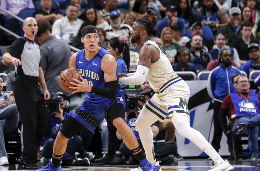 Aaron Gordon and the Orlando magic will essentially have to restart when the season resumes. (Photo by Don Juan Moore/Getty Images)