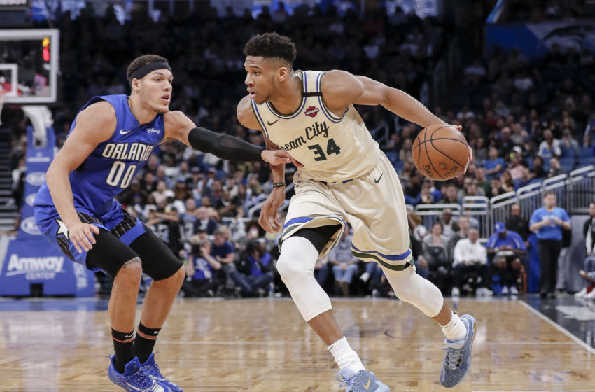 No matter the return format, the Orlando Magic are likely staring down a playoff matchup with Giannis Antetokounmpo and the Milwaukee Bucks. (Photo by Don Juan Moore/Getty Images)
