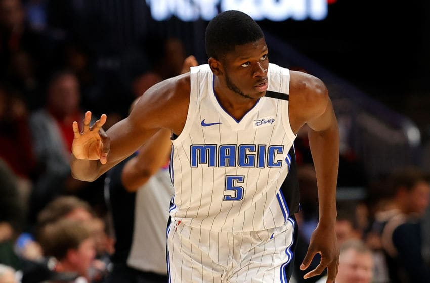 Mohamed Bamba is the first Orlando Magic player to publicly say he will donate to support arena and part-time workers during the NBA's hiatus. (Photo by Kevin C. Cox/Getty Images)