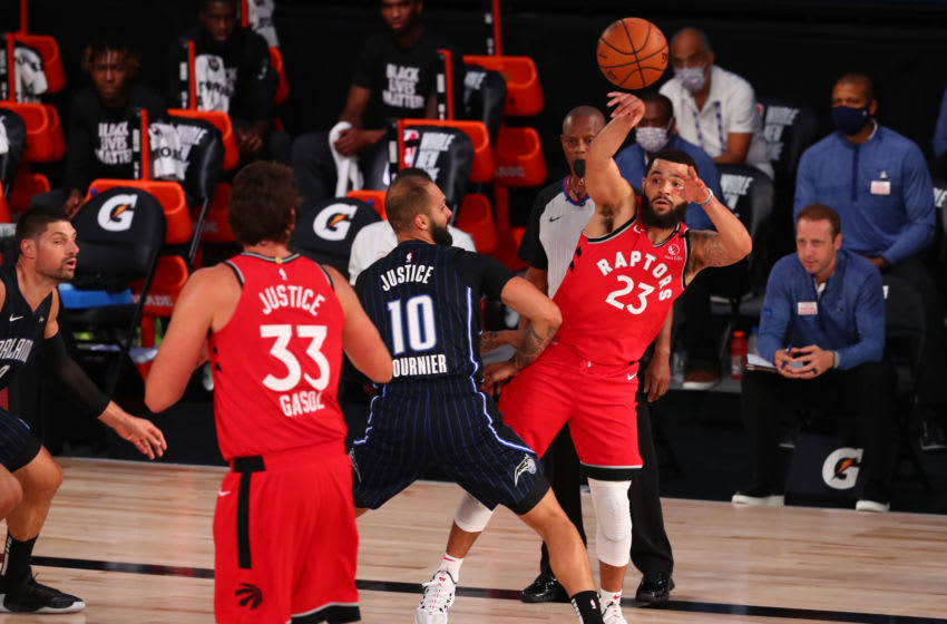 The Toronto Raptors again routed the Orlando Magic showing the Magic they have a lot of work to be ready for a potential playoff series. (Photo by Kim Klement-Pool/Getty Images)