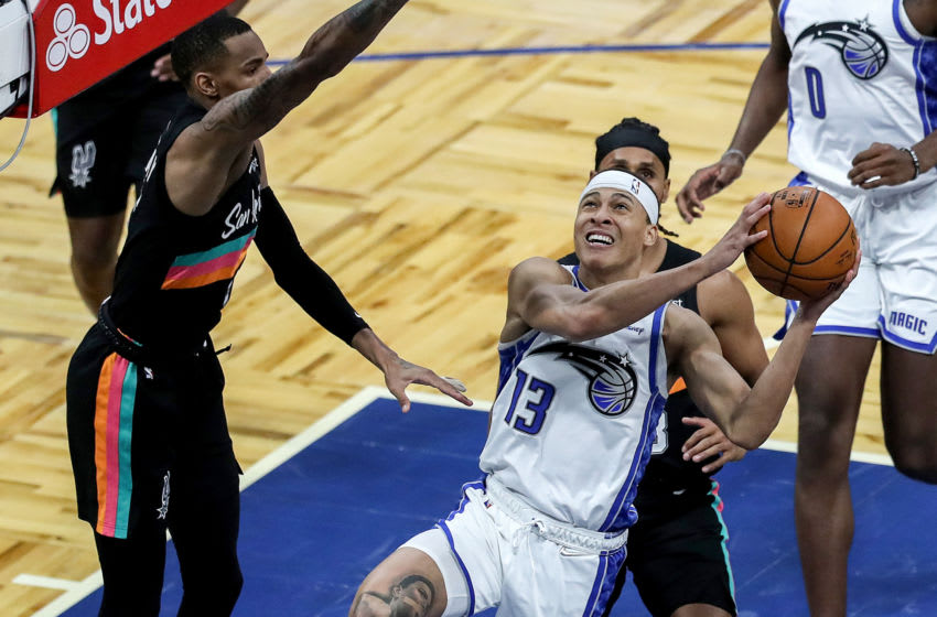 R.J. Hampton has shown the Orlando Magic plenty of flashes of his talent ad ability. But the raw rookie has plenty still to work on. (Photo by Alex Menendez/Getty Images)