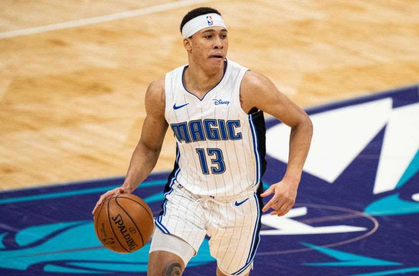 R.J. Hampton got a fresh start in the trade to the Orlando Magic and showed why draft scouts were excited by him. (Photo by Jacob Kupferman/Getty Images)