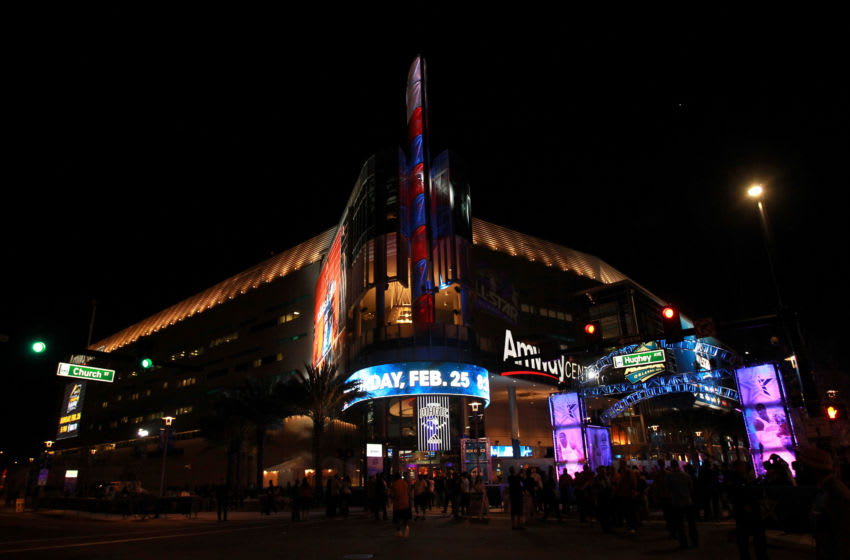The Amway Center will host one of its biggest events as Orange County citizens will be able to early vote at the Orlando Magic's home. (Photo by Ronald Martinez/Getty Images)