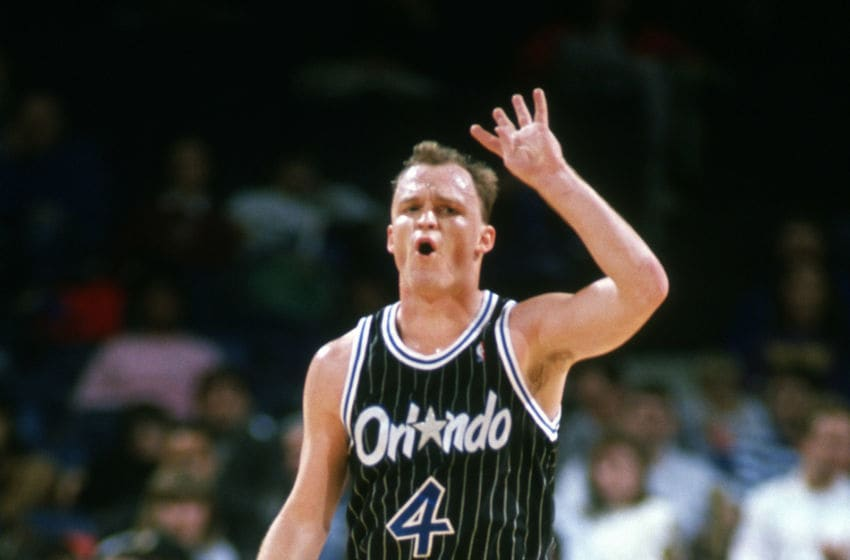 What Scott Skiles lacked in skill sometimes, he made up for in grit. And he sure knew how to rack up assists for the Orlando Magic. (Photo by Focus on Sport/Getty Images)
