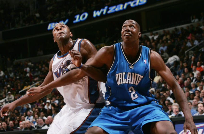 Dwight Howard dominated at center for eight years with the Orlando Magic. (Photo by Doug Pensinger/Getty Images)