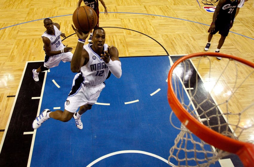 Despite continued hard feelings, Dwight Howard is undoubtedly on the Orlando Magic's Mt. Rushmore. (Photo by Scott Audette-Pool/Getty Images)