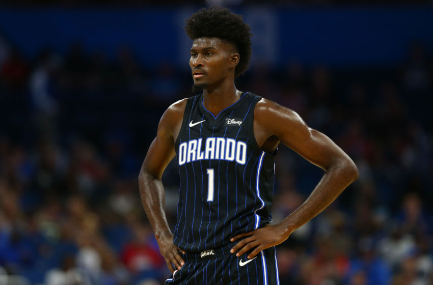 Jonathan Isaac is one of the few Orlando Magic players that seems to be outperforming their contract. But figuring out his actual value remains tricky. Mandatory Credit: Kim Klement-USA TODAY Sports