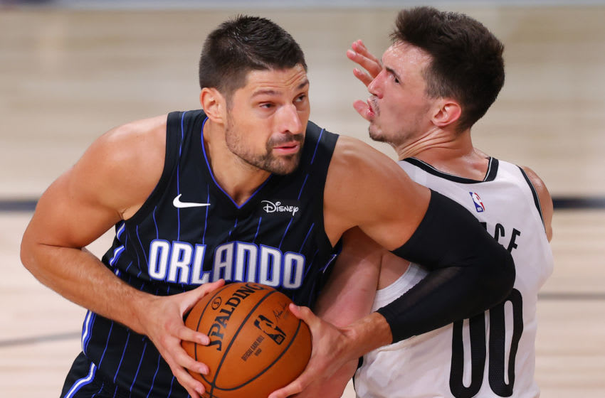 Nikola Vucevic's trade value might not ever be higher than it is now after his stellar run for the Orlando Magic in the 2020 Playoffs. Mandatory Credit: Mike Ehrmann/Pool Photo-USA TODAY Sports