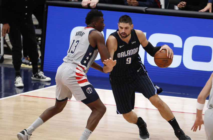 Nikola Vucevic struggled throughout the night but again stepped up big for the Orlando Magic in the fourth quarter. Mandatory Credit: Shawn Thew/Pool Photo viaUSA TODAY Sports