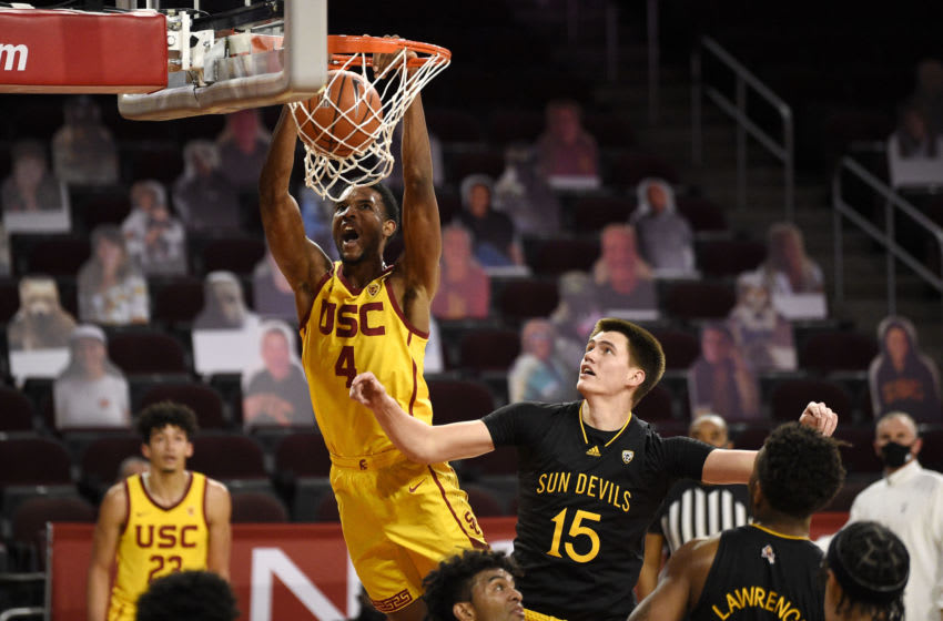 Evan Mobley is the best big man prospect in this Draft. Mandatory Credit: Kelvin Kuo-USA TODAY Sports